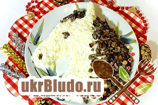 Фото - рецепт новорічного салату