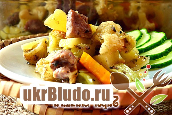 Фото - овочі в рукаві рецепт