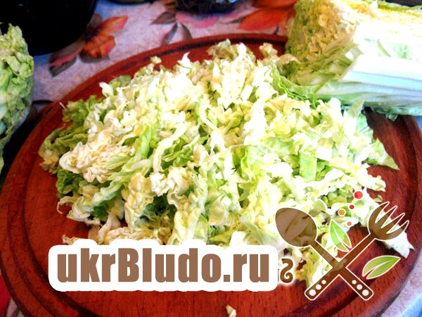 Фото - пекінській салат з крабових палички