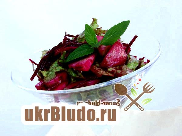 Фото - салат з буряком сирої